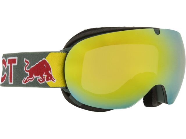 Red Bull SPECT Magnetron Ace Lunettes de protection, olive green/yellow snow
